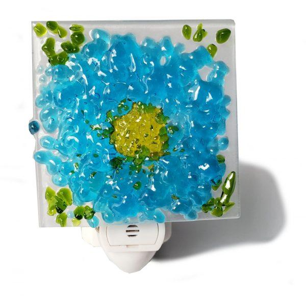 Light Blue Glass Night Light